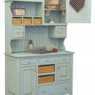 Amish Country Kitchen Hutch Farm House Pantry Cupboard Wood Primitive Furniture