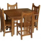 Amish Kids Mission Rectangle Table and Chairs Set Solid Wood Childrens Tea Party