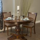 Amish Pedestal Dining Table Round Traditional Country Solid Wood Extending Leaf