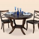 Amish Round Pedestal Dining Table Chairs Set Classic Solid Wood Furniture