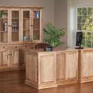 Amish Executive Computer Desk Solid Wormy Maple Wood Office Furniture File