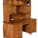 "68"" Amish Executive Computer Desk Hutch Home Office Solid Wood Boulder Creek"