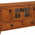 Amish Mission Rustic TV Stand Plasma Flat Screen Cabinet Media Storage Wood