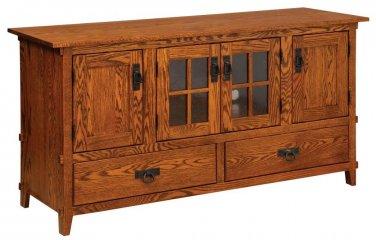 Amish Mission Rustic TV Stand Plasma Flat Screen Cabinet Media Storage Wood