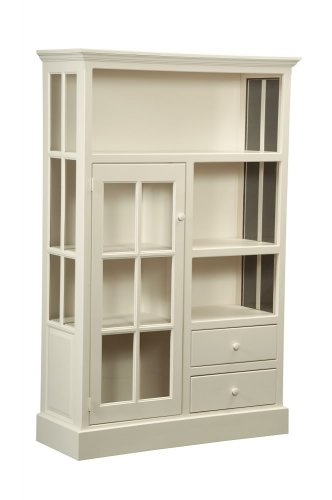 Amish Kitchen Hutch Cabinet Jelly Cupboard Pantry Cottage Country Storage White