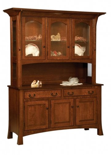 Amish Dining Room Hutch Buffet Server China Cabinet Solid Wood Arts & Crafts