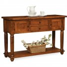 Amish Rustic Farmhouse Dining Room Sideboard Server Buffet Carson Solid Wood