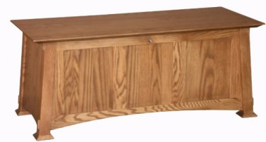 Amish Mission Blanket Box Hope Storage Chest Rustic Wooden Wood Oak New