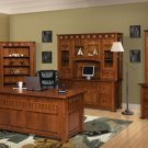 Keystone Amish Mission 6-Pc. Pkg. Executive Computer Office Furniture Solid Wood