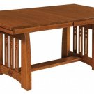 Amish Mission Trestle Dining Table Rectangle Solid Wood Rustic Furniture