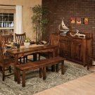 Amish Rectangle Contemporary Dining Table Modern Traditional Wood Furniture