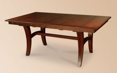 Amish Rectangle Dining Table Solid Wood Modern Casual Furniture Leaves Leg