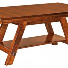 Amish Rustic Dining Table Rectangle Solid Wood Cabin Lodge Furniture