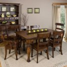 Amish Country Farmhouse Expandable Dining Set Table Chairs Hutch Solid Wood New