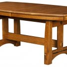 Amish Trestle Dining Table Bench Solid Wood Rectangle Mission Rustic Kitchen