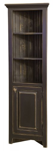 Amish Kitchen Corner Cabinets Jelly Pantry Bathroom Storage Solid Wood Country