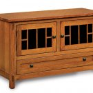 Large Amish Plasma TV Stand Solid Wood LCD LED Console Media Cabinet Storage New