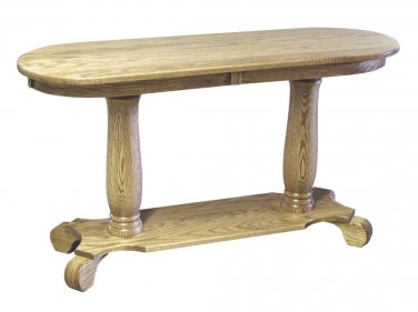 Amish Oak Occasional Tables Set Pedestal Country Solid Wood Coffee End Table New