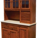 Amish Kitchen Hoosier Cabinet Hutch Baking Pantry Solid Wood Country Rustic New