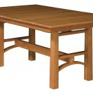 Amish Trestle Dining Table Bench Solid Wood Rectangle Rustic Modern Kitchen New