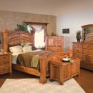 Luxury Amish Rustic Cherry Bedroom Set Solid Wood Full Queen King Bed Cabin