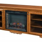 Large Amish Electric Fireplace Plasma TV Stand Media Cabinet Solid Wood Storage