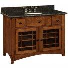 """Amish Mission Bathroom Vanity Free Standing Sink Cabinet Granite Top 48"""" Wood"""