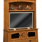 Amish TV Entertainment Center Solid Oak Wood Media Hutch LCD Cabinet Storage New