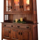 """Amish Ouray Dining Room Hutch China Cabinet Solid Wood 60""""w"""