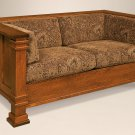 Amish Mission Arts and Crafts Upholstered Love Seat