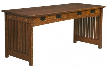 Amish Handcrafted Mission Secretary Writing Office Desk Solid Wood