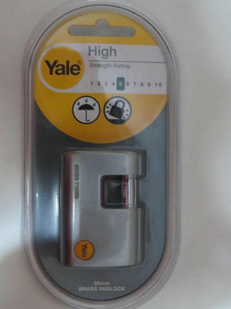 Yale padlock quality lock gate latch hasp garage door 60m shed Assa Abloy locker