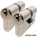 X 4 Yale keyed alike cylinder lock Upvc Door Lock euro profile  same key twins