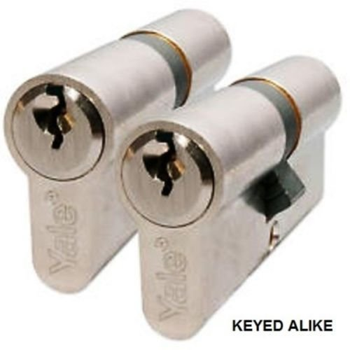 8 Yale keyed alike cylinder lock Upvc Door Lock euro profile  same key twins lot
