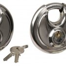 2 Disc Padlock 90mm big storage gate, shed chain motorcycle bike tool box  lot