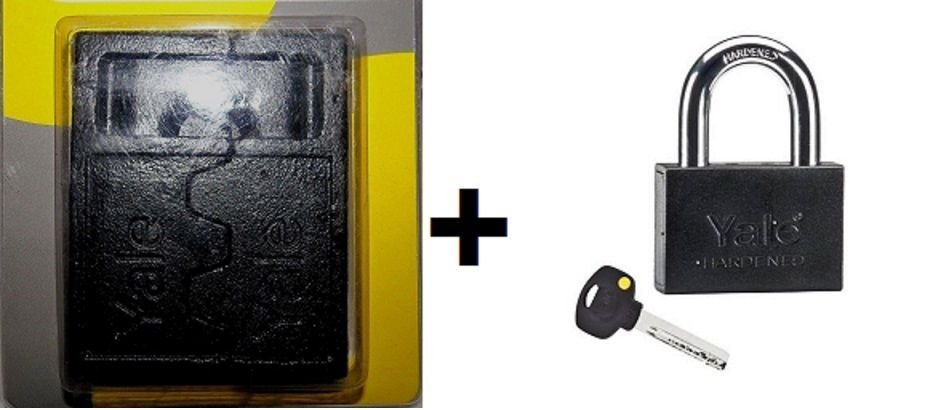 YALE HASP #10 + YALE SMART PADLOCK FOR GATE STORAGE REMOVABLE SHACKLE PADLOCK