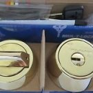 Mul T Lock MT5+ Deadbolt Hercular Single  Thumbturn 3 keys - BRIGHT BRASS
