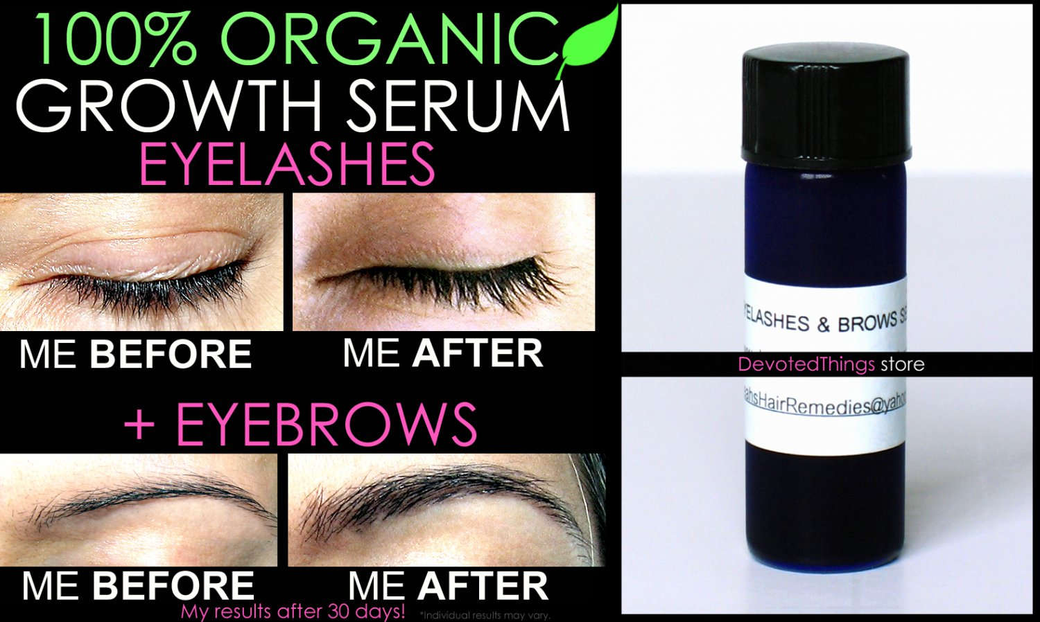 Best Organic Eyelash Growth Serum And Eyebrow Growth Serum Oil Free