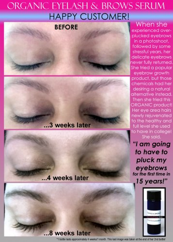 BEST ORGANIC EYELASH GROWTH SERUM AND EYEBROW GROWTH SERUM OIL FREE 2 IN 1 PRODUCT