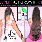 Leahs SUPER FAST Hair Growth System Natural Hair Growth Products KIT- 3 piece