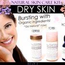 Natural Skin Care Kit For Dry Skin Set of 3
