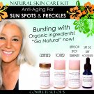 Natural Skin Care Kit Anti Aging For Sun Age Spots, Freckles, Melasma Lightening Set of 5