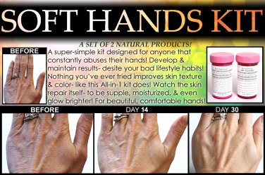Natural Soft Hands Kit Dry Cracked Hands Repair Hand Scrub and Healing Salve for Men Women