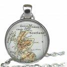 Scotland map Pendant, Scotland map Necklace, Scotland Pendant, map Jewelry, map