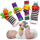 Blige SMTF Cute Animal Soft Baby Socks Toys Wrist Rattles and Foot Finders for F
