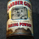 Vintage CLABBER GIRL BAKING POWDER Metal Can Empty Large Size 1 lb. 9 oz. No Lid