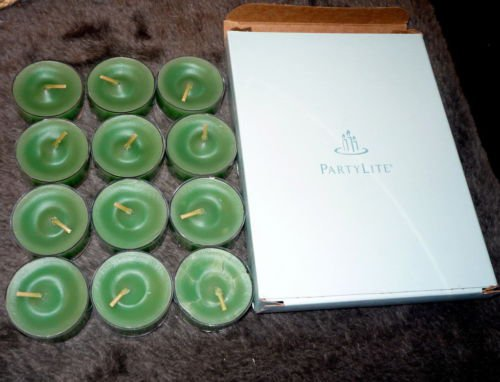 PARTYLITE Tealight SPRUCE IN THE SNOW Box of 12 NIB VO4552 FREE SHIPPING