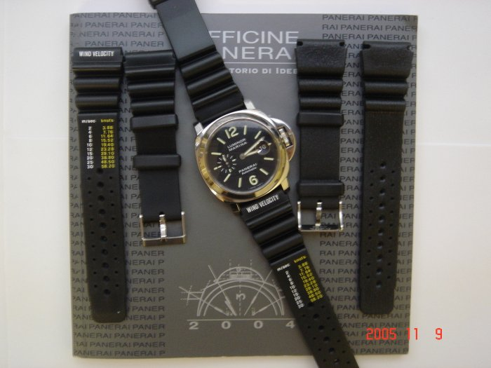 RUBBER DIVER STRAP FOR PANERAI 44MM WATCH