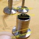 KF25 (NW25) 304 SS Vacuum flange to Hose Adapter Flange  25 mm diameter Tube