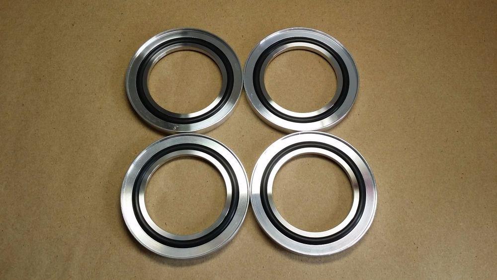 4 pcs Center Ring KF-50 Overpressure Fittings, ISO-KF50 NW-50, Aluminium